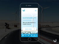 Clean Energy Mobile Website - Free UI download