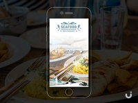 Seafood Restaurant Mobile Website - Free UI download
