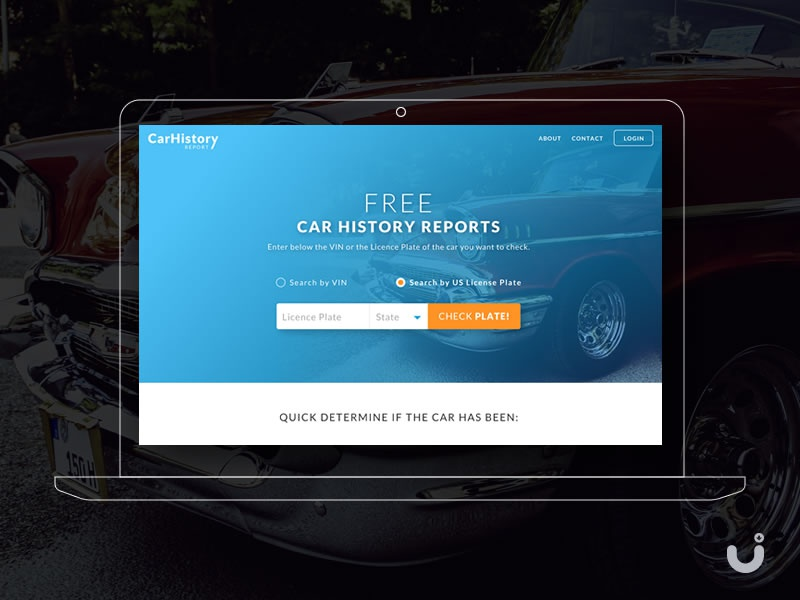 Free Car History Report >> Car History Reports Website Free Ui Download By Marian Voicu On