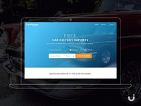 Car History Reports Website – Free UI download