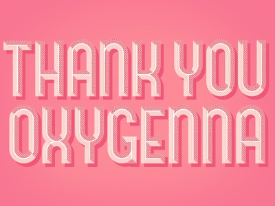 Thank You! dribbble invite thank you vector type typography letting