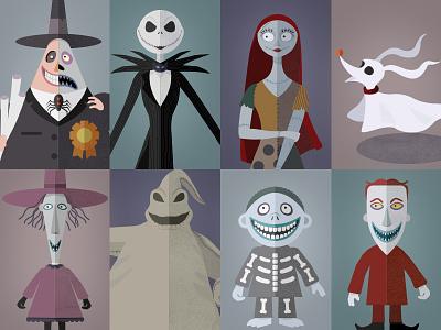 Happy Nightmares, p2 oogie boogie tim burton nightmare before christmas halloween character set