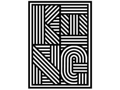 King Typography black and white typography type lines stripes monotone lettering king