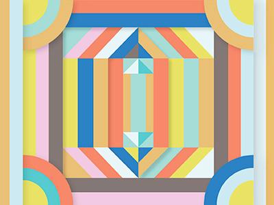 Izmir turkey stripes geometric color illustration graphic