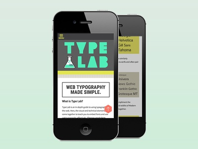 Type Lab Website  ui ux type website illustration typography mobile responsive web design