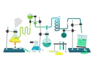 Type Lab Illustration type website illustration chemical book typography graphics lab 404 chemistry science icons
