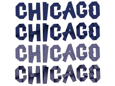 Chicago Typography usa illustrator stripes chicago font type typography