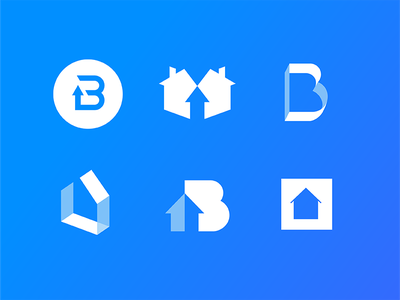 Booming Investments investment investing housing real estate branding illustration icon logo