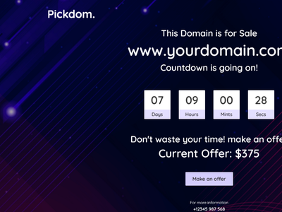 Pickdom - Domain for Sale HTML Template shopping html5 selling responsive one page modern hosting domain sale domain parking domain name domain for sale template domain for sale domain creative clean bootstrap