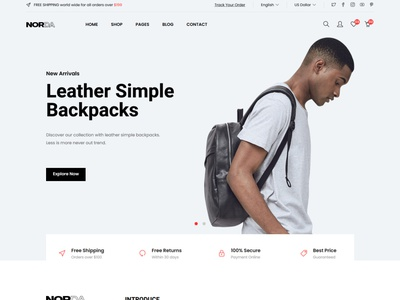 Norda - Minimal eCommerce HTML Template bootstrap shopping shopping store responsive online shop modern minimalist minimal kids html5 furniture fashion electronic ecommerce clean bootstrap 4