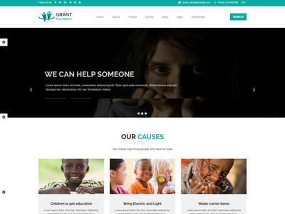 Grant Foundation   Nonprofit Charity HTML Template  2 volunteer social donation rtl html organization nonprofit template nonprofit organization nonprofit charity non-profit ngo fund foundation donation donate charity foundation charity