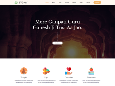 Stomv   Religious temple HTML Template temple religion prayer non profit ngo muslim mosque html5 template hindu donation clean church christian charity bootstrap4
