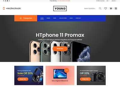 Young   Multipurpose eCommerce HTML Template responsive html pet organic modern kids handmade furniture flower fashion electronic cake book