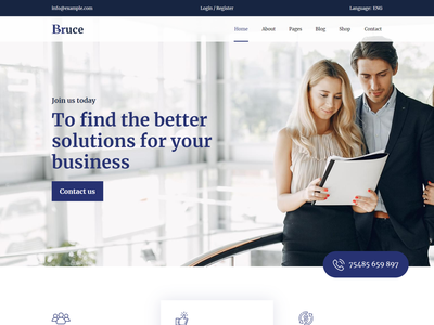 Bruce   Creative Multipurpose HTML Template startup shop retail resume responsive html portfolio personal modern marketing creative corporate html clean business architecture agency