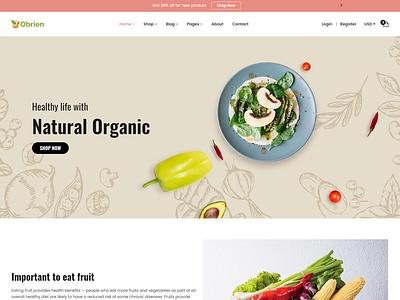 Obrien   Organic Food HTML5 Template vegetable store vegetable shop organic life organic food natural modern html5 template fruits fresh farm eco food bootstrap