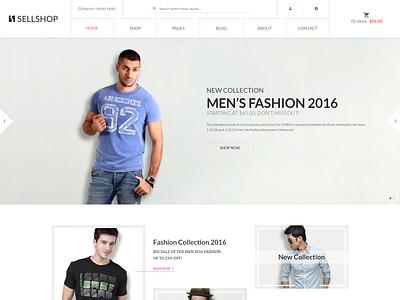 Sell Shop   Fashion Store HTML Template shopping responsive online modern minimalist minimal luxury fashion handbag fashion store elegant ecommerce template clothing clothes clean apparel