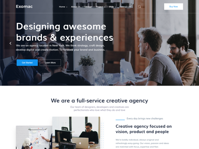 Exomac   Corporate Business Vue Nuxt JS Template vue template vue js vue business startup responsive nuxt js minimal finance digital marketing creative corporate html consulting company clean agency