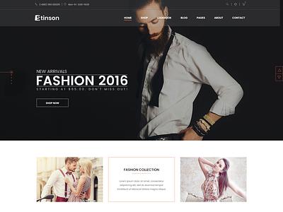 Stinson   Fashion Store HTML Template shopping responsive html online shop modern fashion modern minimalist minimal html5 fashion store fashion luxury fashion clothing fashion boutique elegant clothes clean apparel