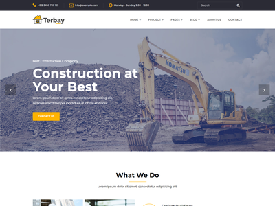 Terbay   Construction Bootstrap5 Template repairing template renovation template real estate projecting plumber painter mechanic landscaping interior engineering contractor construction building company builder architecture