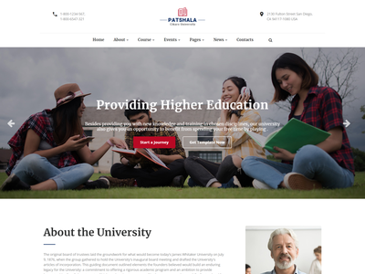 Patshala   Education HTML Template with Page Builder website template university training center study school responsive online school online education online course lms educational education html e-learning college academic