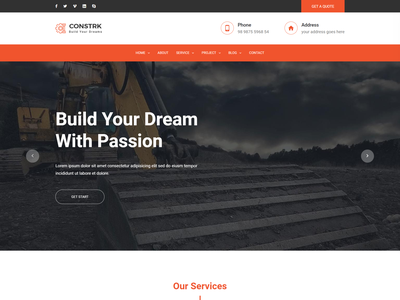 Constrk   Construction HTML Template renovation industry industrial house builder constructor construction machinery construction equipment construction business construction builder construction clean building builders