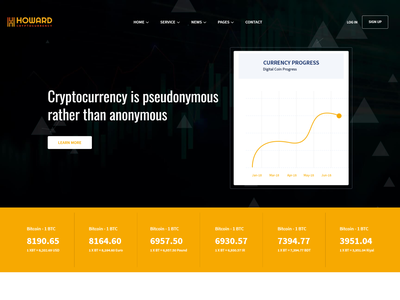 Howard   React JS Crypto Currency Template reactjs coin currency react js template react business template react modern international currency exchange currency exchange electronic cash digital currency currency crypto trading crypto currency bitcoin trading