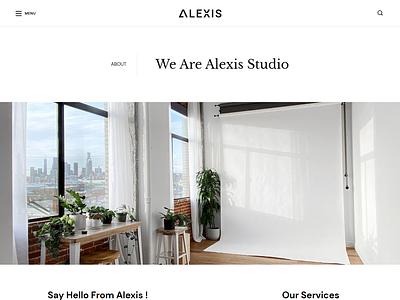 Alexis – Photography React JS Template minimal react template react template