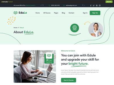 Edule - eLearning Website Template online courses html template bootstrap html website template online academy html template elearning website template
