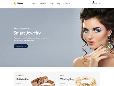 Ghona – Jewelry Shopify Theme fashion store shopify theme jewellery minimal shopify theme fashion shopify stores dark jewellery website cosmetic shopify store jewelry shopify theme
