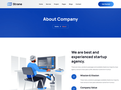 Strane - Startup Agency Bootstrap 5 Template it startup bootstrap template it business web template multipurpose business template startup agency web template agency bootstrap template