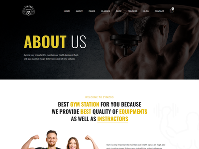 Zymzoo - Gym & Fitness Centre Bootstrap 5 Template gym management system template fitness training web template bootstrap workout web template gym  fitness template