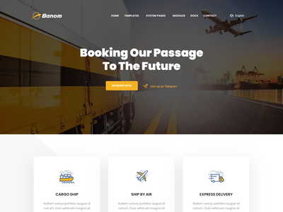 Banom - Logistic HubSpot Theme delivery company hubspot theme trailer hubspot theme transportation hubspot theme warehouse hubspot theme shipment hubspot theme courier hubspot theme logistic hubspot theme