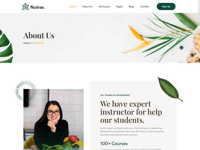 Nutras - Fitness & Nutrition Bootstrap 5 Template nutrition diet web template responsive fitness web template organic food web template bootstrap diet plan template