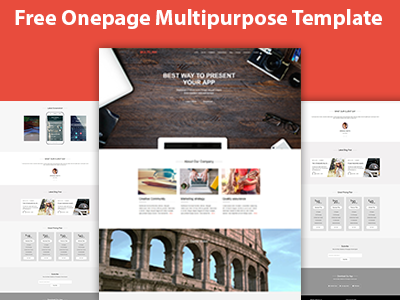 multilink free onepage multi purpose html5 template by devitems