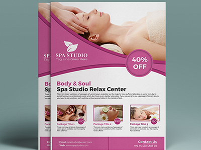 Spa Flyer Template By Devitems Dribbble