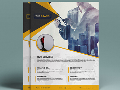 corporate business flyer design by devitems dribbble dribbble