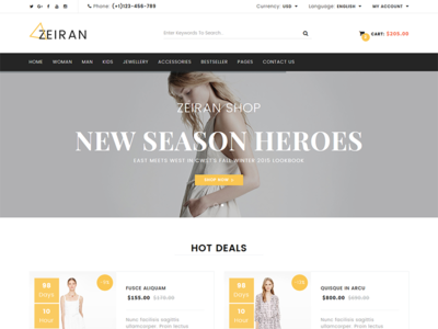 zeiran fashion bootstrap ecommerce template by devitems dribbble