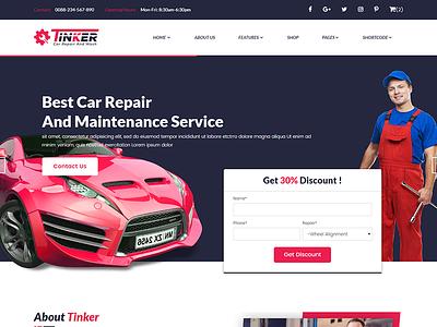 Tinker – Car Repair and eCommerce Template modern mechanic shop car dealer mechanic flat clean cars car shop car repair car blog auto shop auto blog auto