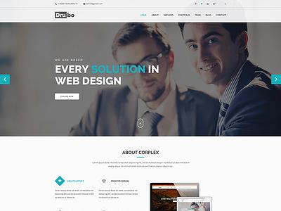 Drubo – Multipurpose HTML Template website templates web design simple design html template corporate site clean templates clean  creative clean business web