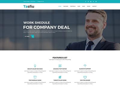 Tasfiu – Multipurpose HTML Template website templates web design simple design html template corporate site clean templates clean  creative clean business web