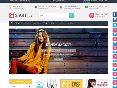 Sagitta - Responsive eCommerce HTML Template