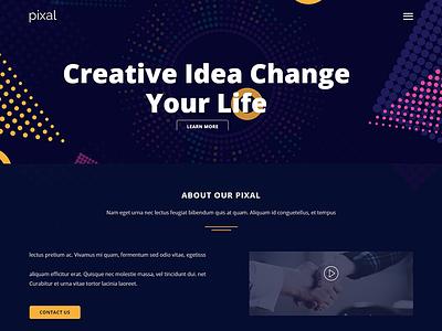 Pixal - Creative Multipurpose Template responsive portfolio personal parallax one page multi-purpose multi purpose html multi purpose modern design clean bootstrap blog