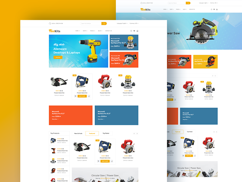 Jantrik - Bootstrap4 Template for Tools, Equipment Store by DevItems