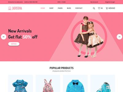 Jadusona - eCommerce Baby Shop Bootstrap4 Template
