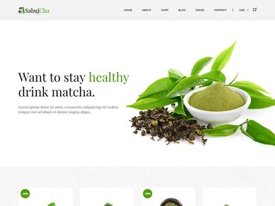 Sabujcha - Matcha eCommerce Bootstrap4 Template
