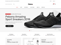Pebona - Fashion eCommerce Bootstrap 4 Template