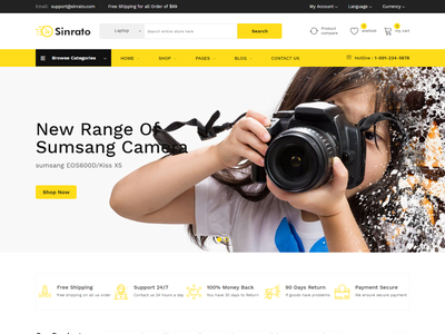 Sinrato eCommerce Bootstrap 4 Template