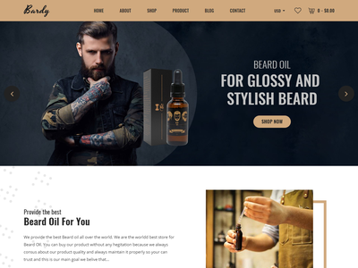 Bardy - Beard Oil Shopify Theme trimmer store spa shopify shop oil hairdressing hair ecommerce beauty beard style beard oil beard cut beard barber
