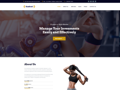 Koshrot   Gym Fitness Html Template With Page Builde