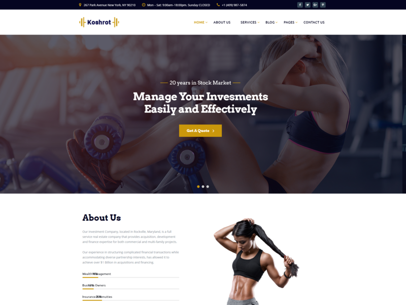 Koshrot   Gym Fitness Html Template With Page Builde responsive yoga sports html5 gym one page gym membership gym fit gym equipment gym fitness club fitness center fitness crossfit cardio bootstrap body building